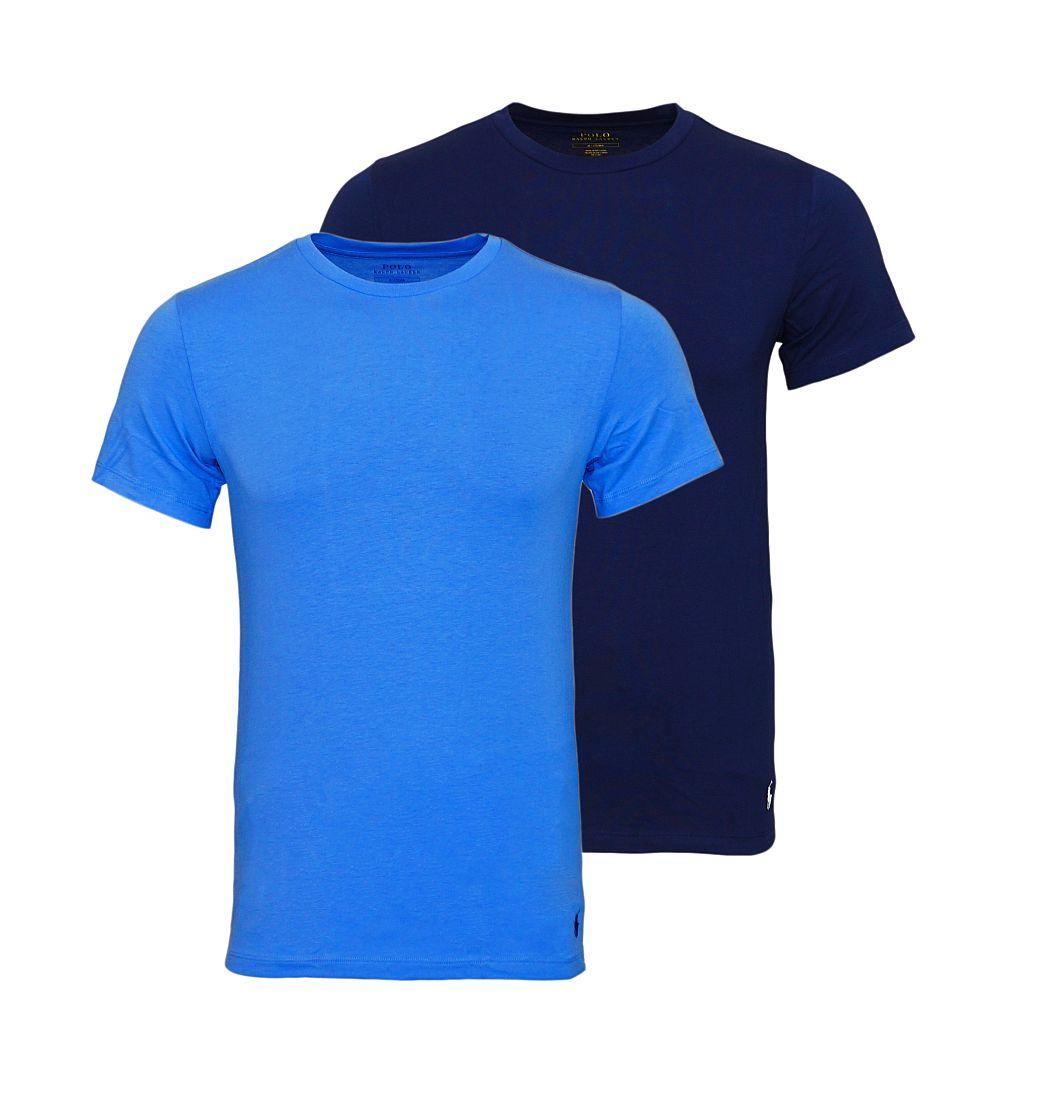 Ralph Lauren 2er Pack T-Shirts Rundhals NAVY/AERIAL BLUE SH17-RLTS1