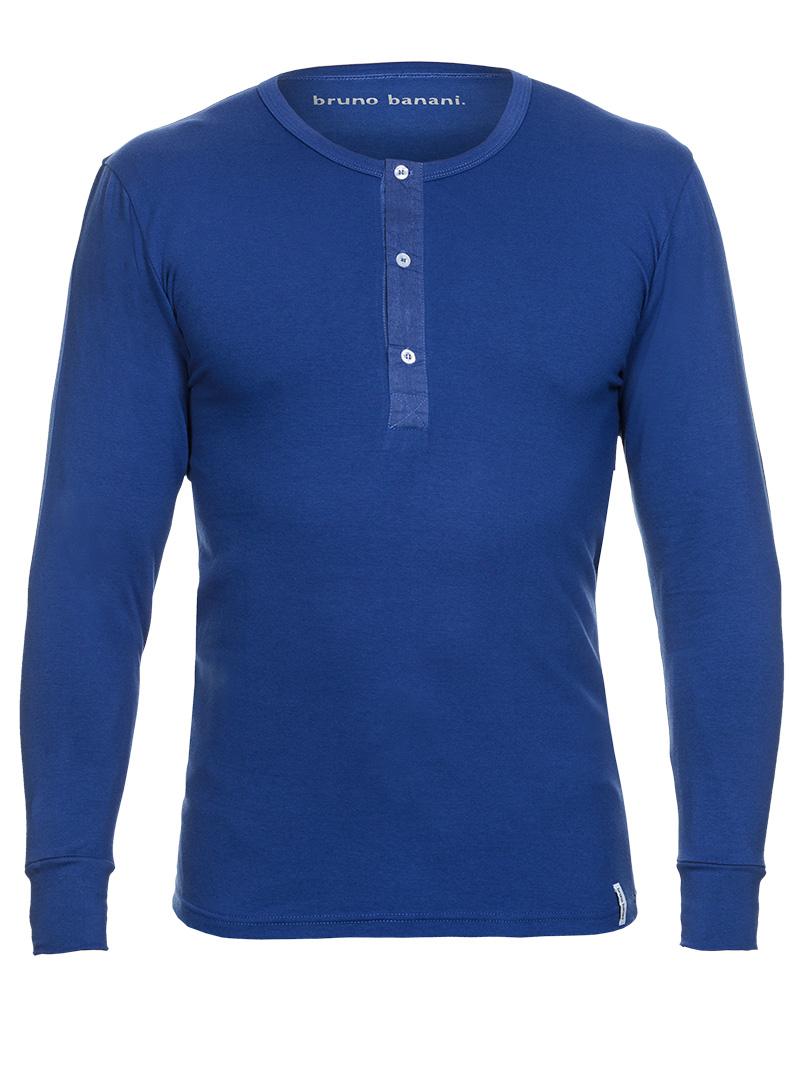 Bruno Banani Longsleeve Shirt blau Rundhals BB16 1342 2202 010Z