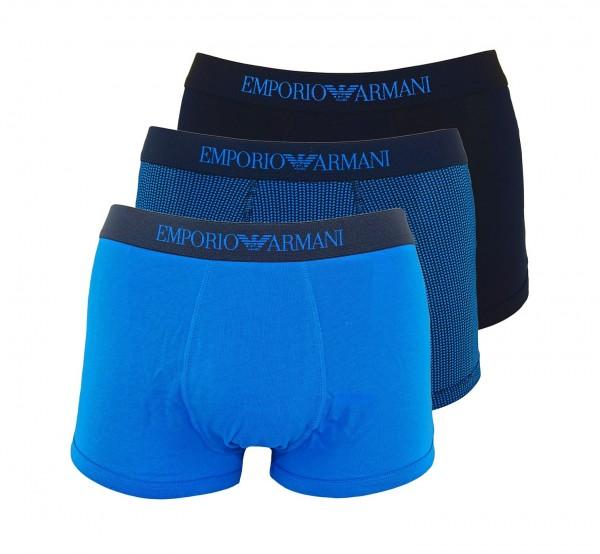 Emporio Armani 3er Pack Trunk 111625 9P722 25933 navy, blau FS19-EA3