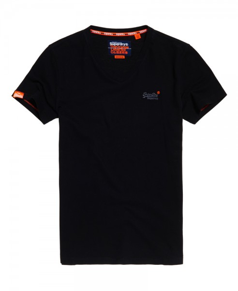 Superdry T-Shirt Vintage Emb V-Ausschnitt M10004NS Black 02a WJ19-SDT1