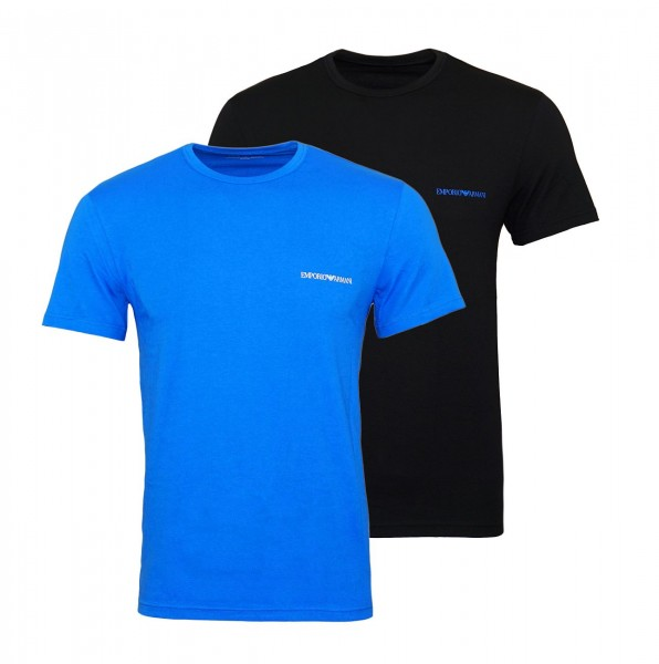 Emporio Armani 2er Pack T-Shirts Rundhals 111267 9P717 64420 NERO ONDA W19-EA2