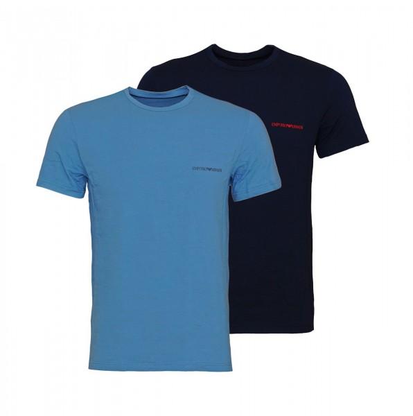 Emporio Armani 2er Pack T-Shirt Crew-Neck 111267 9A717 17331 blue, navy SH19-EAX1