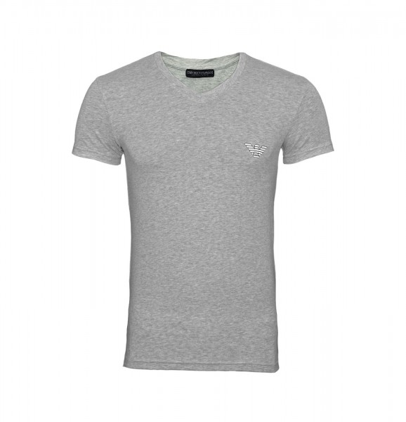 Emporio Armani T-Shirt V-Neck 110810 9P523 00048 hellgrau FS19-EAT1