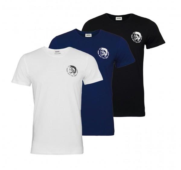 Diesel 3er Pack T-Shirts Randal Rundhals OTANL 02 schwarz, navy, weiss SS19-DS1