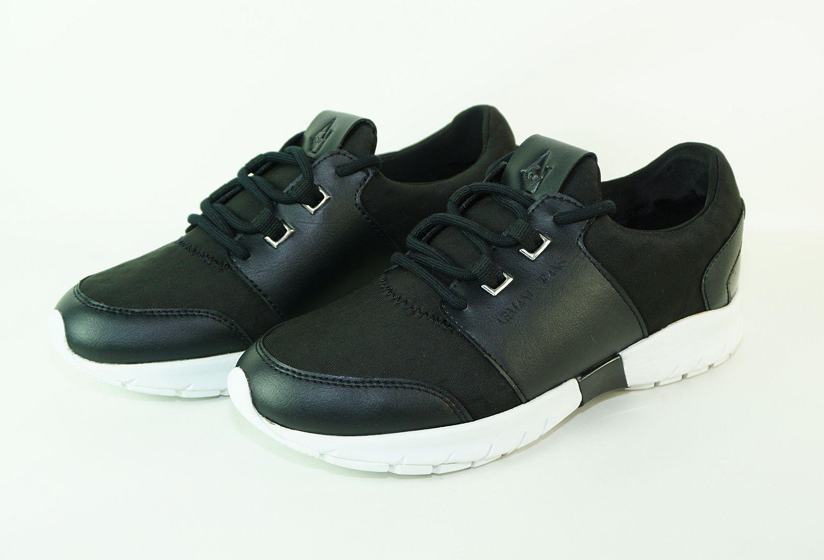 Armani Jeans Schnürschuhe Sneaker Runner 925178 7P565 00020 Nero schwarz S17-AJS1