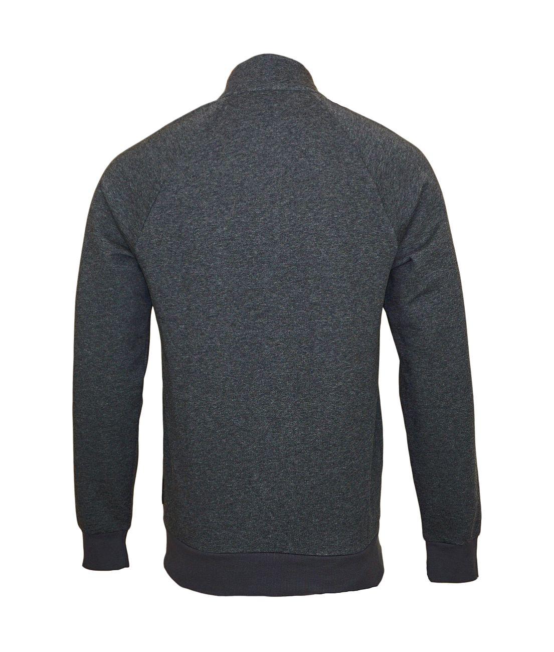 Emporio Armani Sweater Jacke mit Reißverschluss 111570 8A571 57720 GRIGIO MELANGE NERO SH18-EAS1