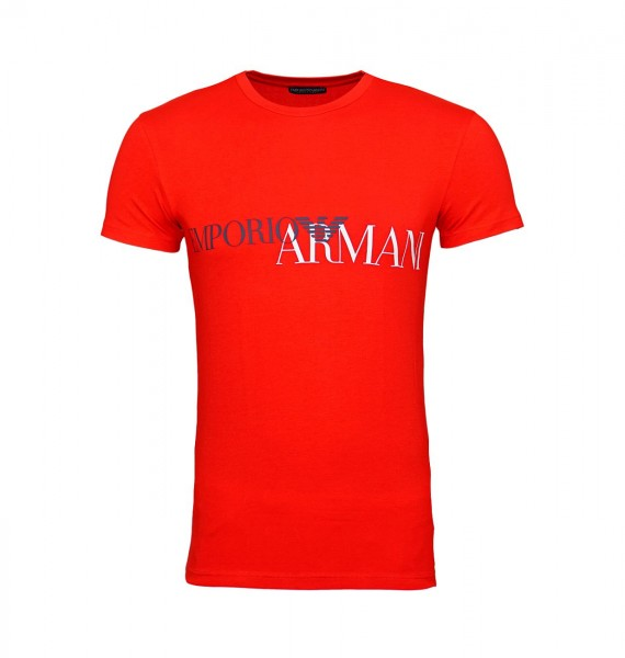 Emporio Armani T-Shirt Rundhals m. Motiv 111035 9P516 00074 red WF19-EAT2