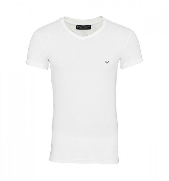 Emporio Armani T-Shirt V-Ausschnitt 110810 CC735 00010 white WF19-EAT4