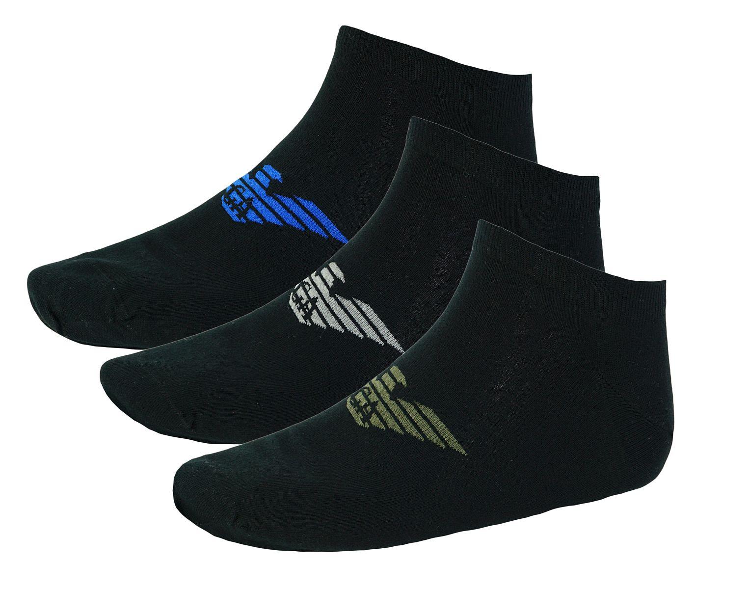 Emporio Armani 3er Pack Strümpfe Socken 8929BX Calza Inside 300008 7A234 NERO HW17-EAX1