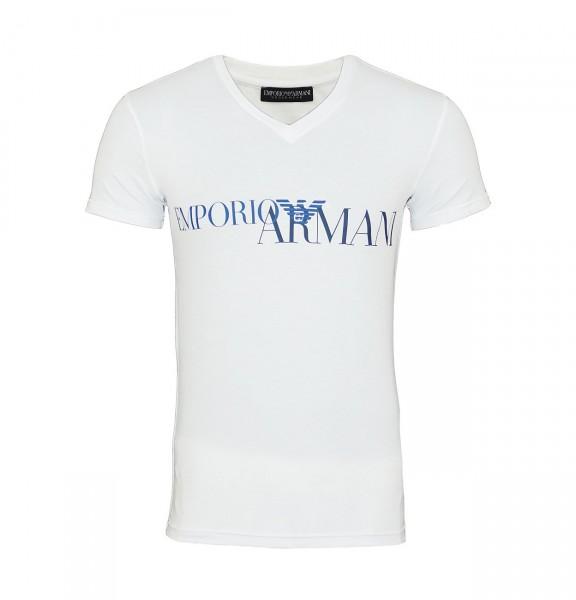 Emporio Armani T-Shirt V-Ausschnitt 110810 9P516 00010 white WF19-EAT3