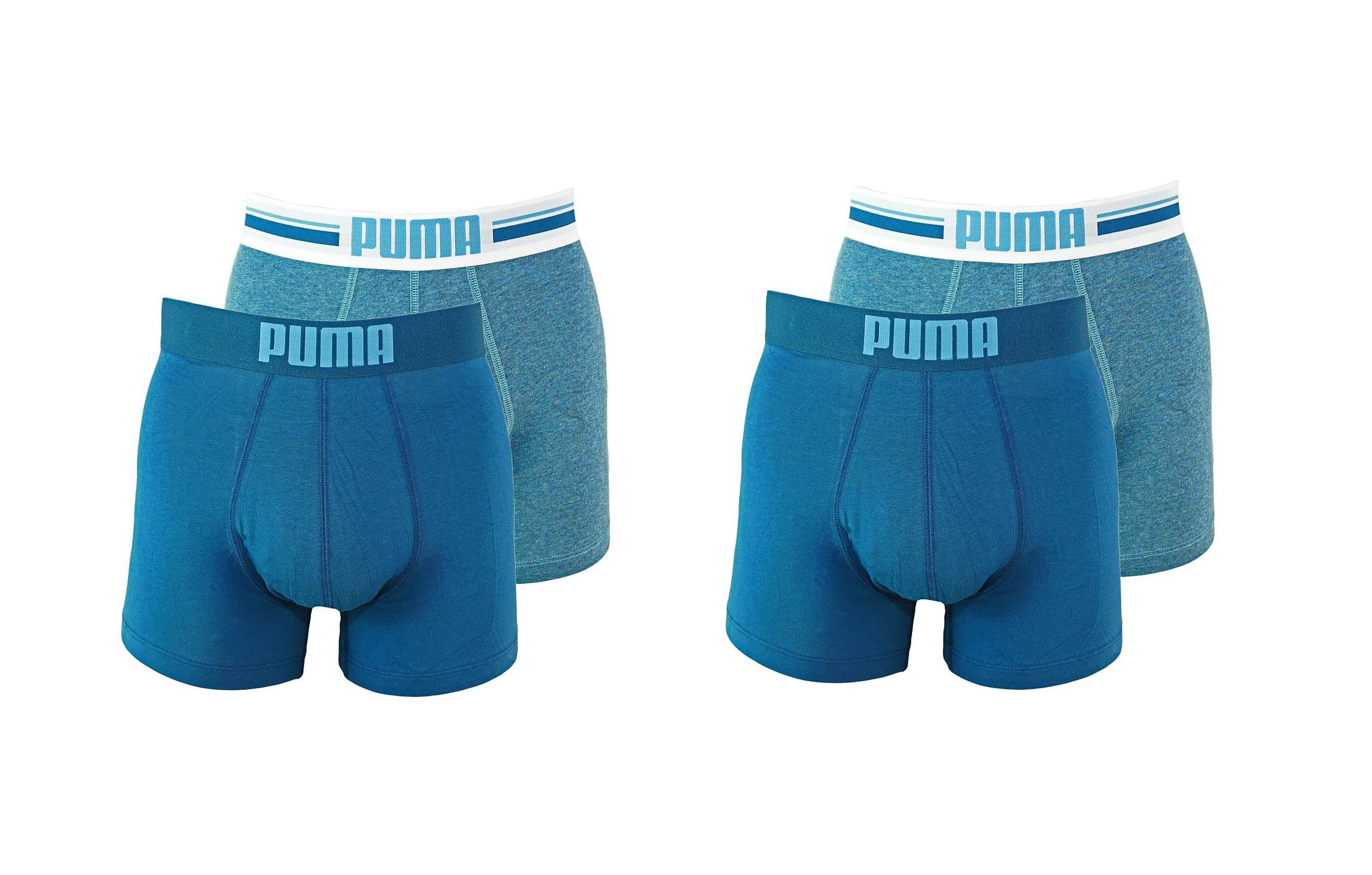 PUMA Shorts Unterhosen 2 x 2er Pack Boxer 651003001 162 020 denim SF17-PMS2