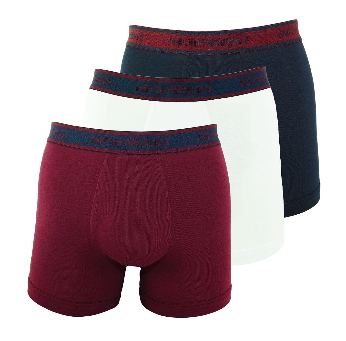 Emporio Armani 3er Pack Boxer Boxershorts 111473 8A717 54835 MARINE/MOSTO/BIANCO SH18-AB1