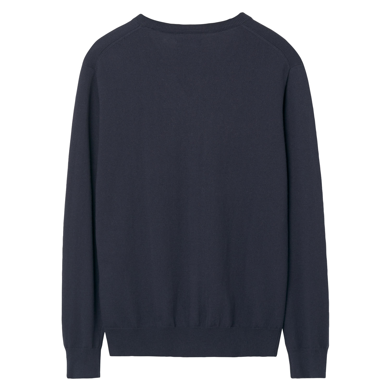 Gant Pullover, Strickpullover COTTON WOOL V-NECK 83102 NAVY SH18-GP2