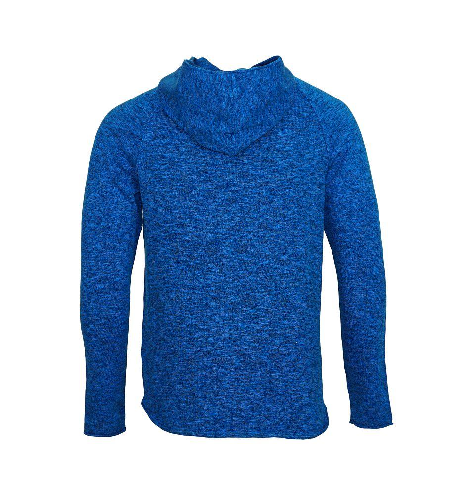 Jack & Jones Pullover jjorMONO Knit Hood blue Reg mit Kapuze JJ16