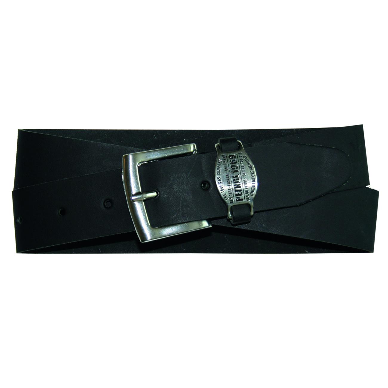 PETROL Industries Ledergürtel Leder Gürtel schwarz PE16 40103 black