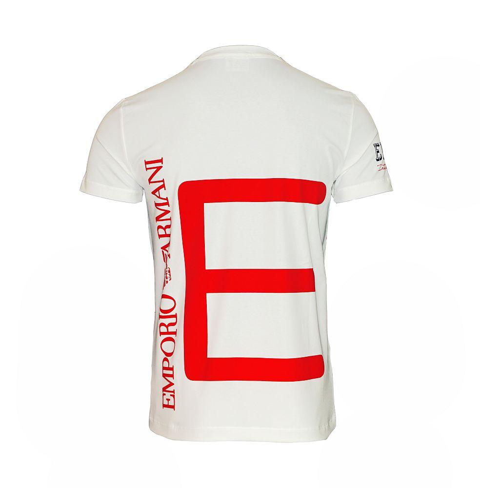 EA7 EMPORIO ARMANI Shirt T-Shirt Tee Shirt Sea World rot, weiss 273935 6P254 00010