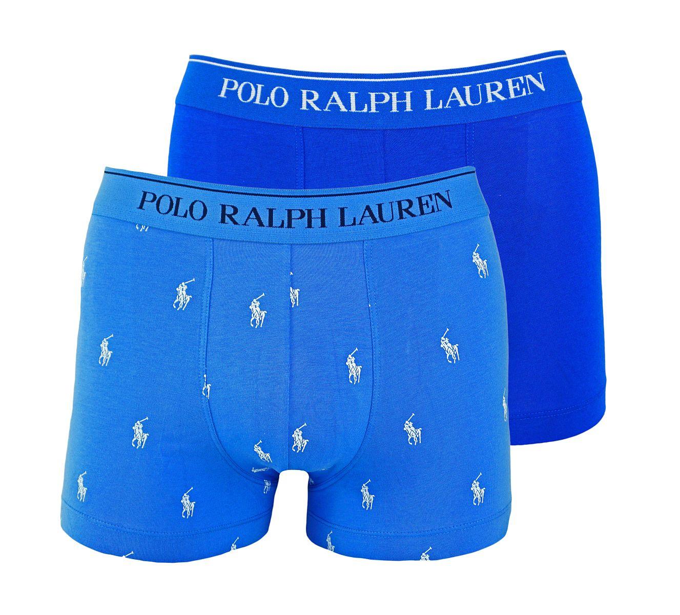 Ralph Lauren 2er Pack Boxershorts Trunks Spring1UDW AERIAL BLUE/SAPPHIRE STAR W18-US1