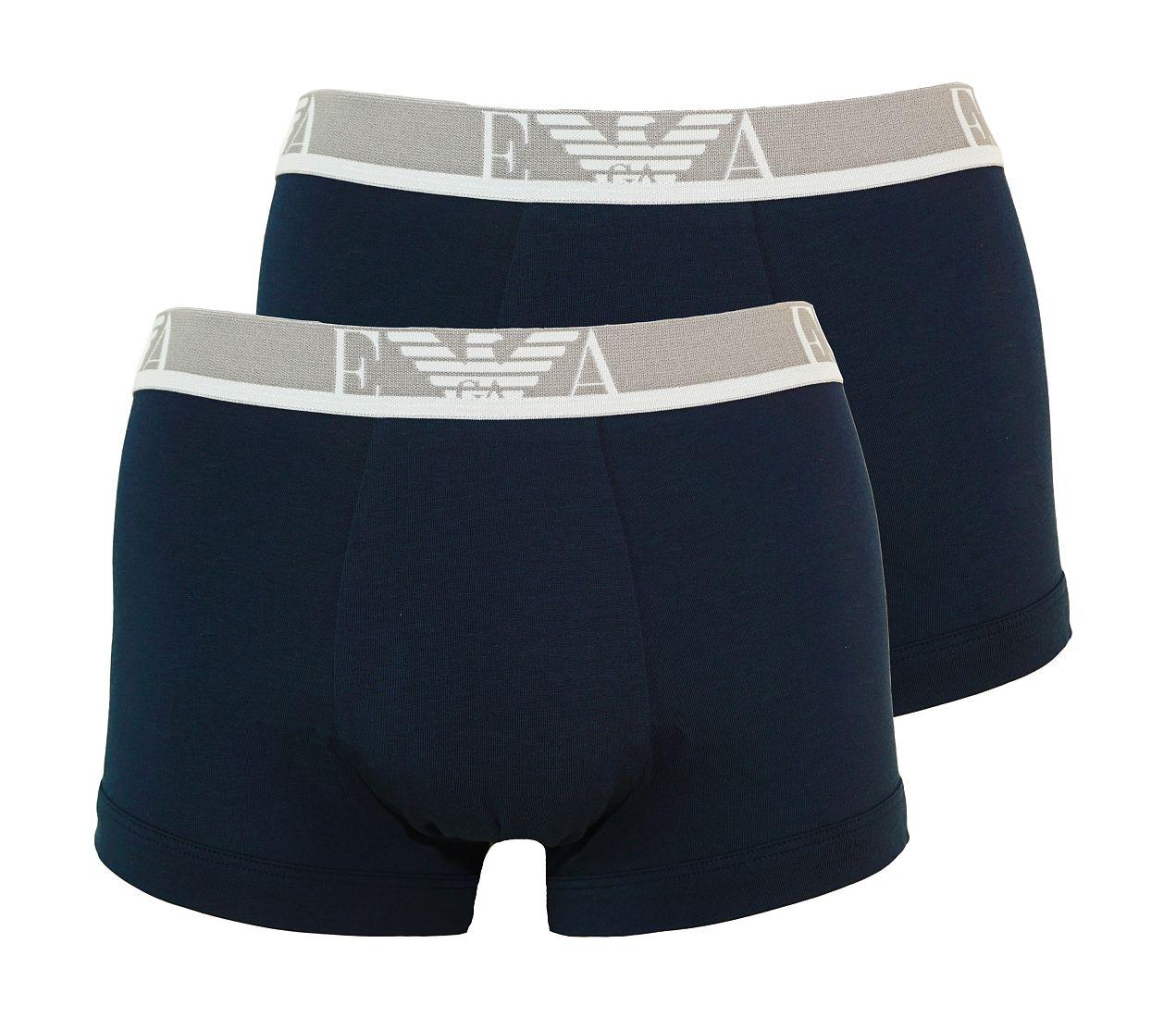 Emporio Armani 2er Pack Trunk Shorts MARINE/MARINE 111210 7P715 27435 WF17-EAT1