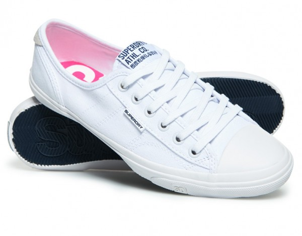 Superdry Damen Low Pro Sneaker GF1002NS Optic White WJ-19-SPSX