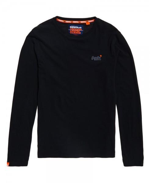 Superdry Herren Longsleeve O L Vintage Embroidery M60002NS Black WJ19-SDL1