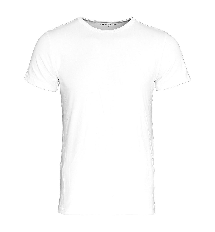 3 er Pack TOMMY HILFIGER Stretch Shirt T-Shirt Tee-Shirt weiss Rundhals