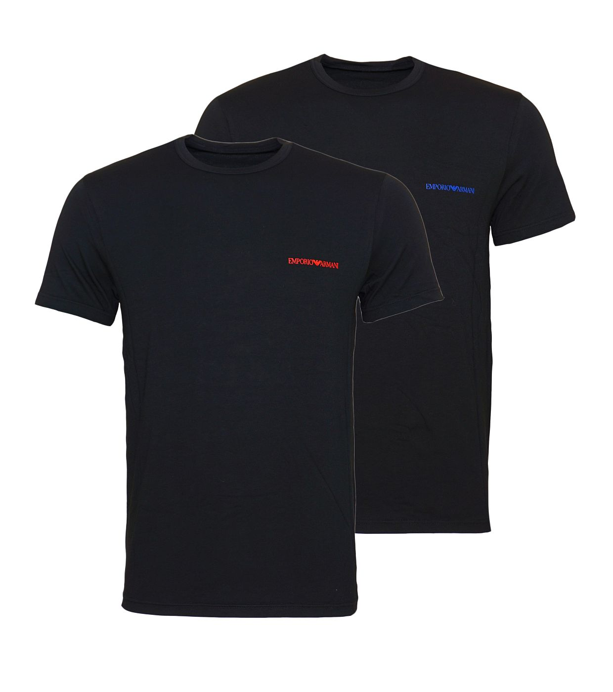 Emporio Armani 2er Pack T-Shirts Rundhals 111267 8A717 17020 NERO/NERO SH18-EAT1