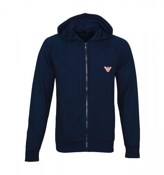 Emporio Armani Hooded Sweatjacke Zipper 111835 9P575 00135 navy SS19-EAS1