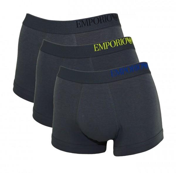 Emporio Armani 3er Pack Trunk Unterhosen 111357 CS713 23644 anthrazit SS19-EAB1
