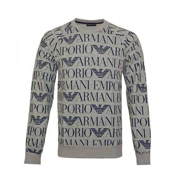 Emporio Armani Pullover Sweater Rundhals 111062 9P566 05248 grau WF19-EAP1