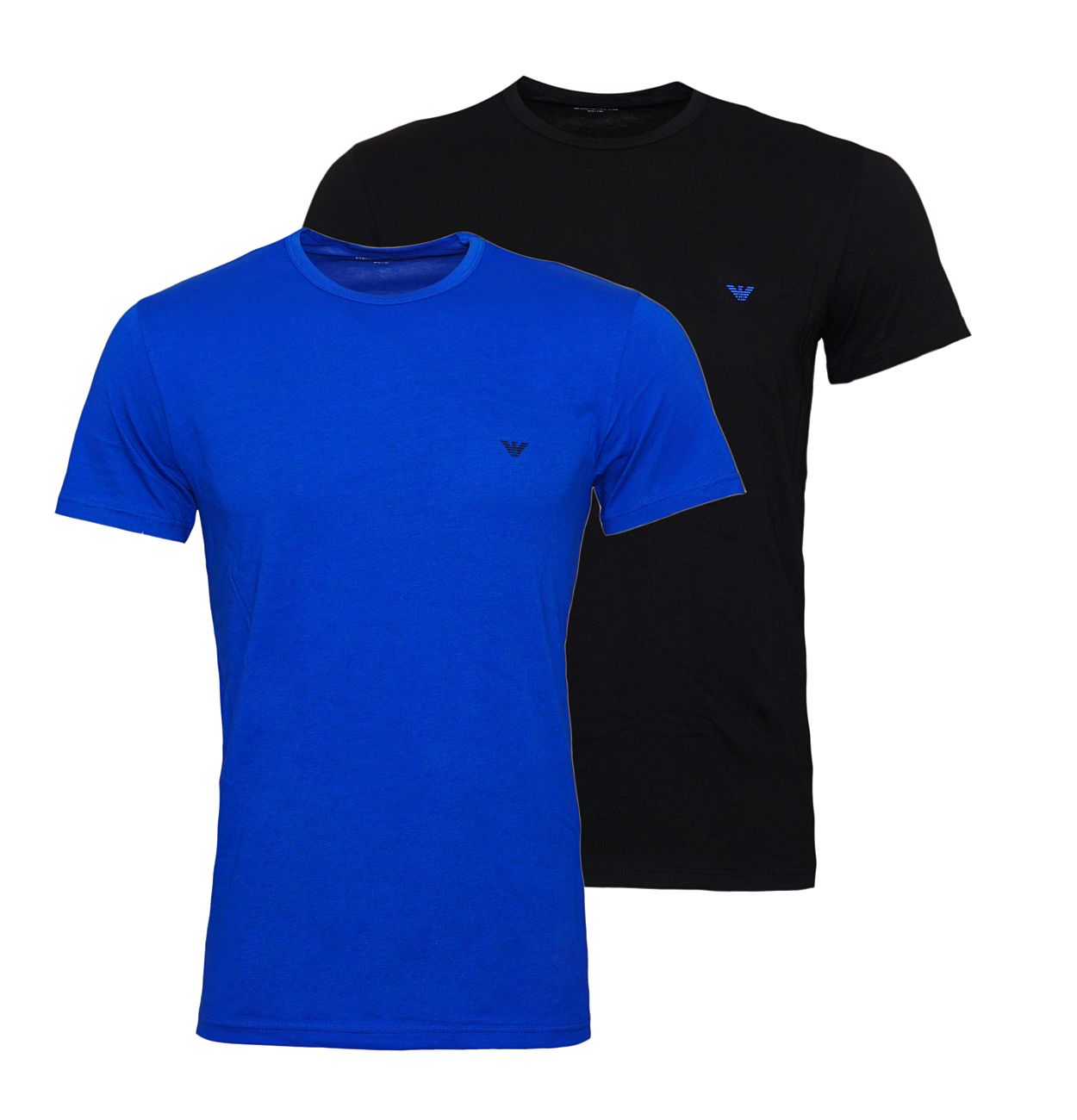 Emporio Armani 2er Pack T-Shirt Rundhals 111267 8A722 59920 NERO/MAZARINE WX18-EAT