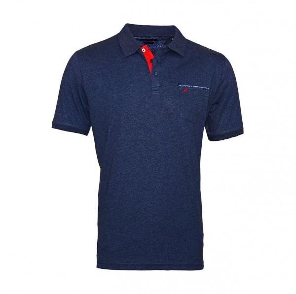 Daniel Hechter Poloshirt Polo T-Shirt 75022 191914 690 blue melange WF19-DHP1