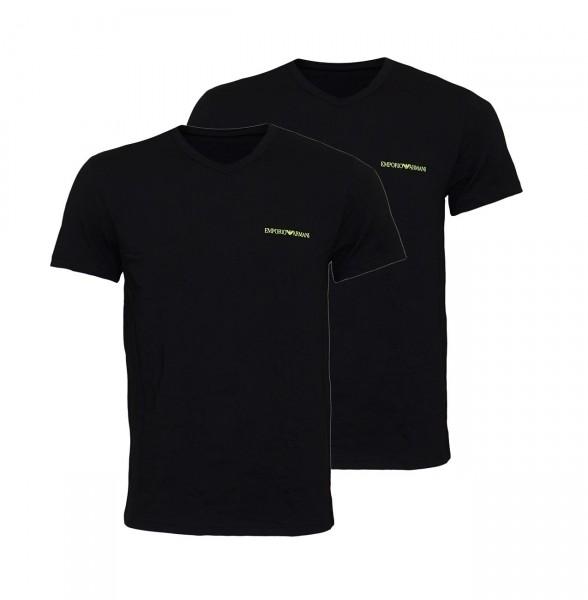 Emporio Armani 2er Pack T-Shirt V-Neck 111849 9A717 07320 black SH19-EAX1