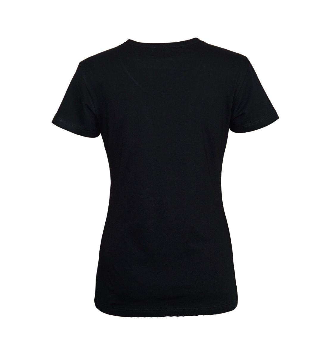Emporio Armani Damen Shirt T-Shirt V-Ausschnitt 163321 7A317 00020 NERO HW17-EADS1