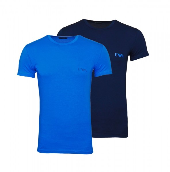 Emporio Armani 2er Pack T-Shirt Crew-Neck 111670 0P715 66735 navy, blue WF20-EA1