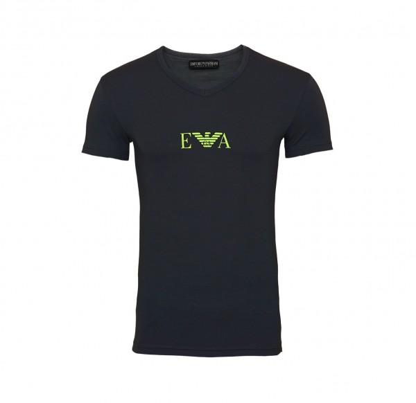 Emporio Armani T-Shirt V-Ausschnitt V-Neck 110810 9A715 00044 anthrazit SS19-EAT1