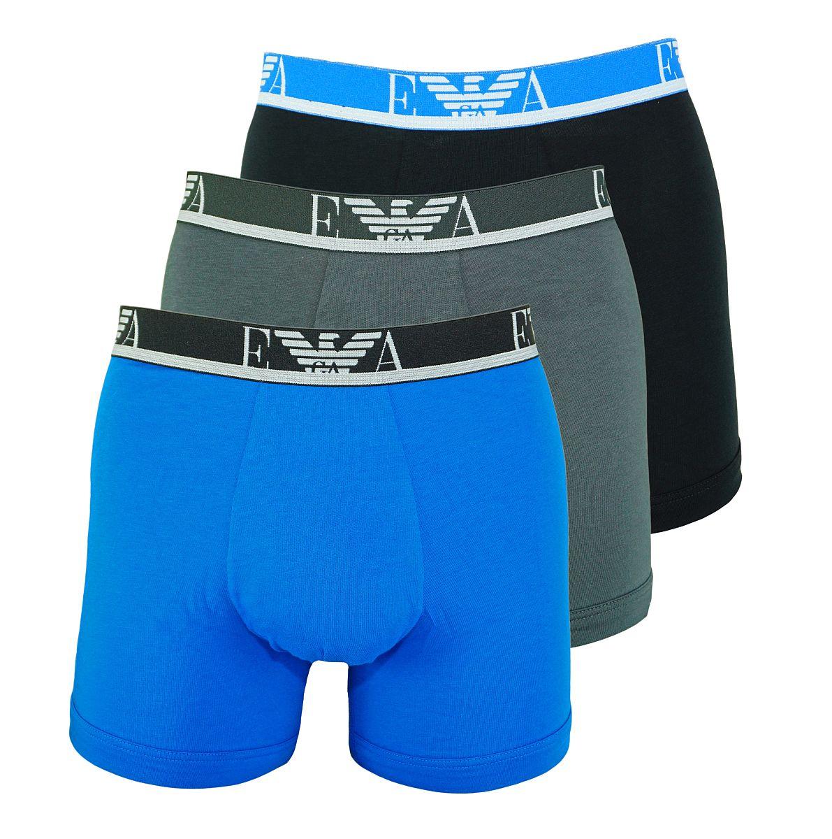 Emporio Armani 3er Pack Shorts Boxer Unterhose 111473 8P715 19944 ANTRAC/CIELO/NERO W18-EABZ1