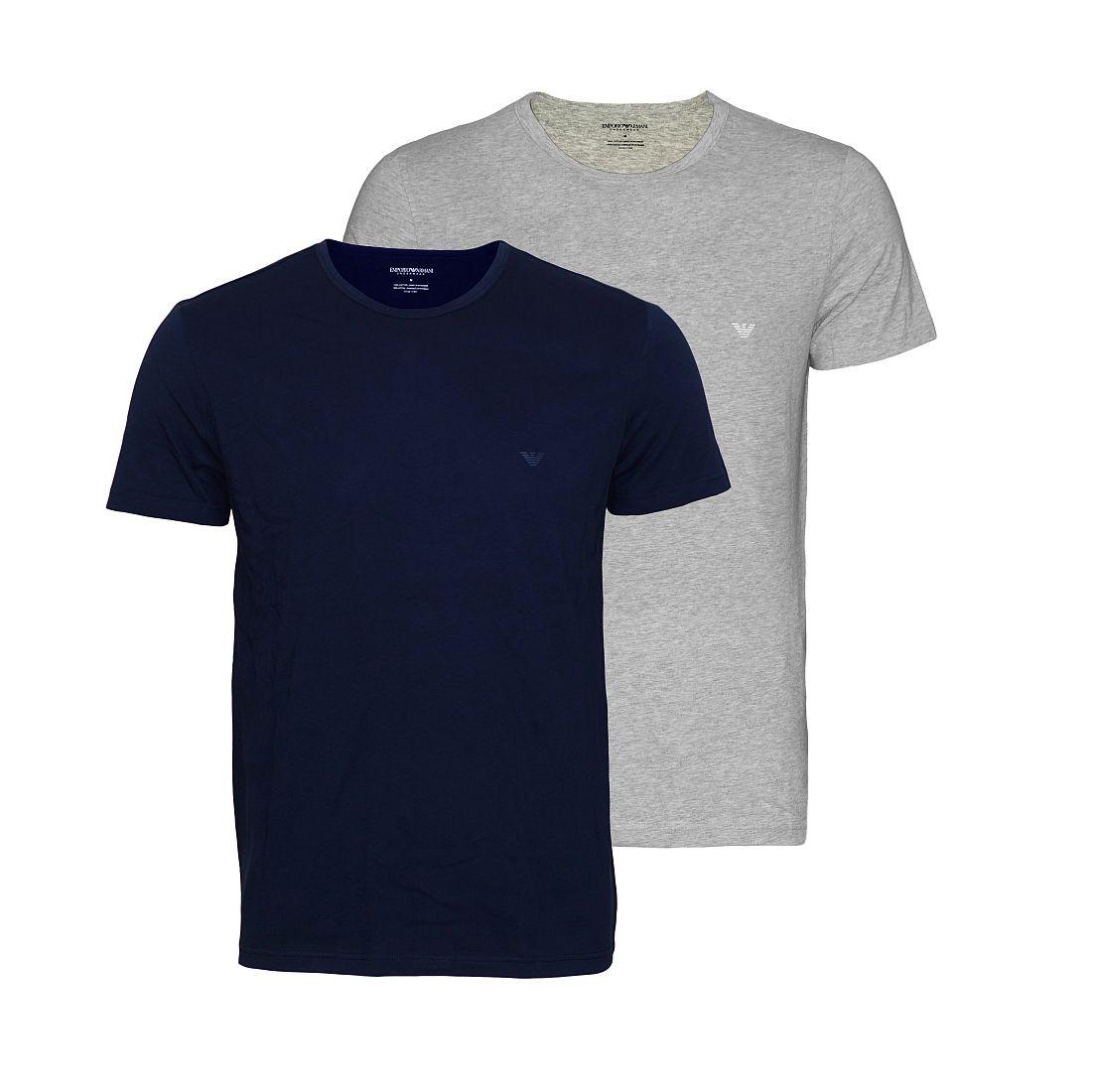 EMPORIO ARMANI 2er Pack Shirt T-Shirt navy grau CC722 111647 15935 HW16