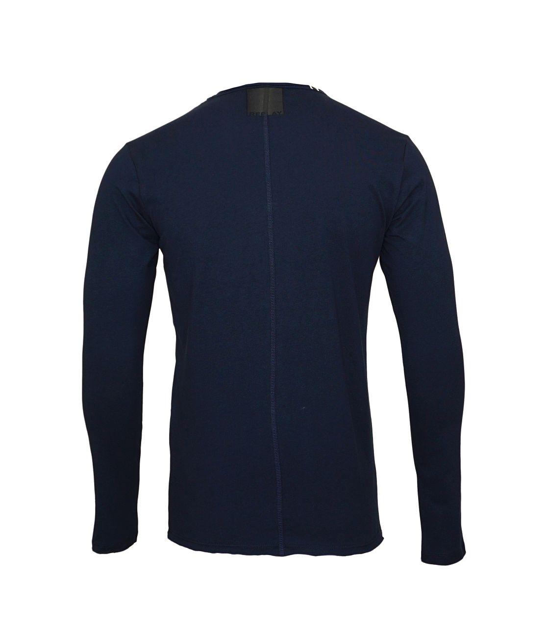 Replay Longsleeve Shirt Rundhals M3592.000 2660.576 MIDNIGHT BLUE S18-RPLS1