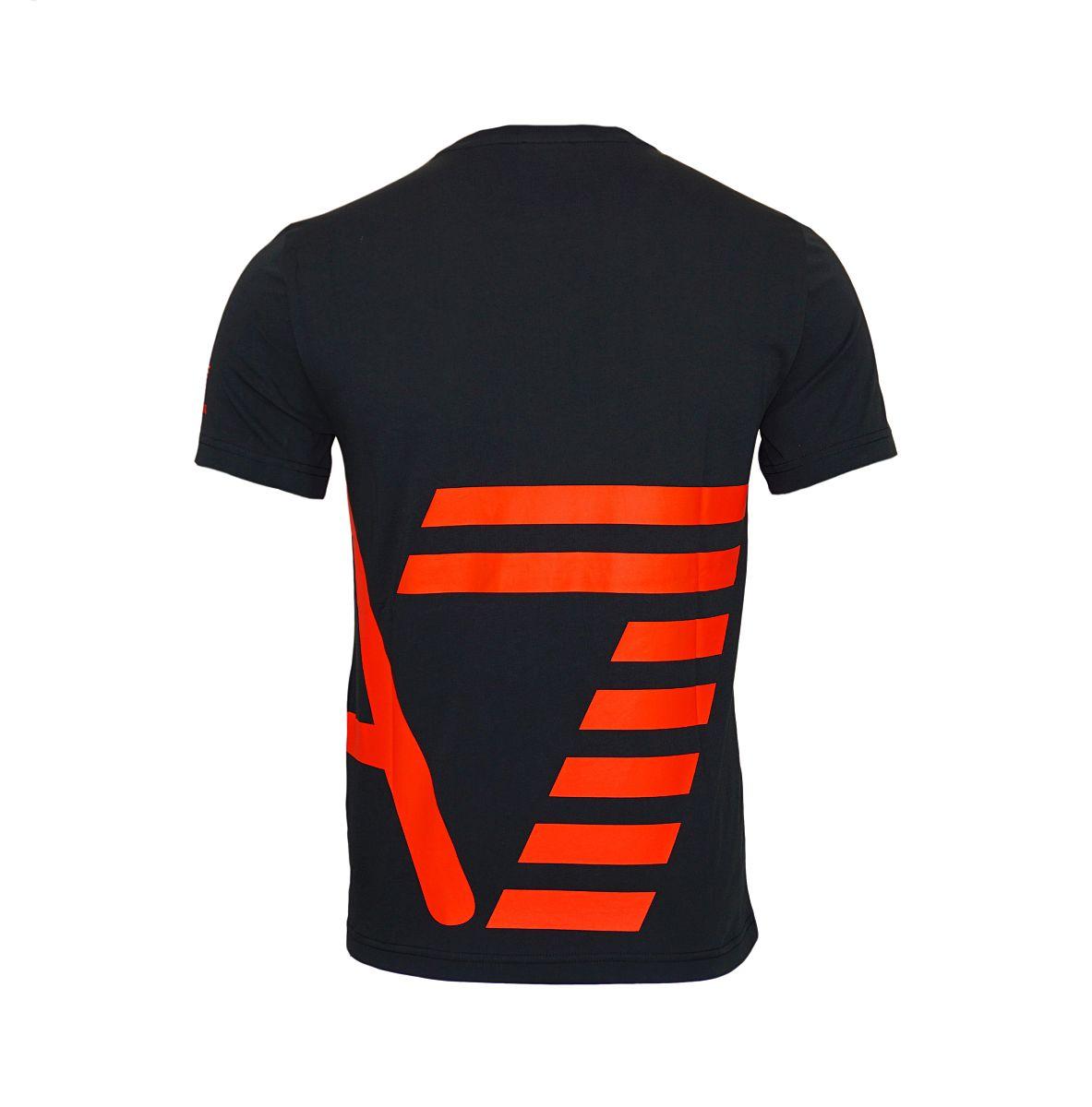 EA7 Emporio Armani T-Shirt Rundhals 6YPTB8 PJH7Z 1200 Black HW17-EATS1