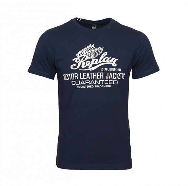 Replay T-Shirt Shirt Rundhals M3597.000 2660.576 MIDNIGHT BLUE WJ19-RPS2