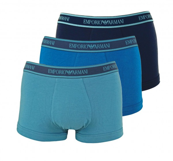 Emporio Armani 3er Pack Trunk Shorts 111357 0A717 21534 blue, green HW20-AT1