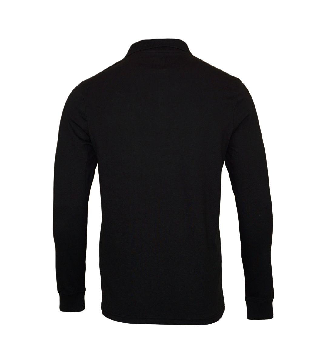 Daniel Hechter Longsleeve Poloshirt 75003 172900 990 schwarz SH17-DHL1