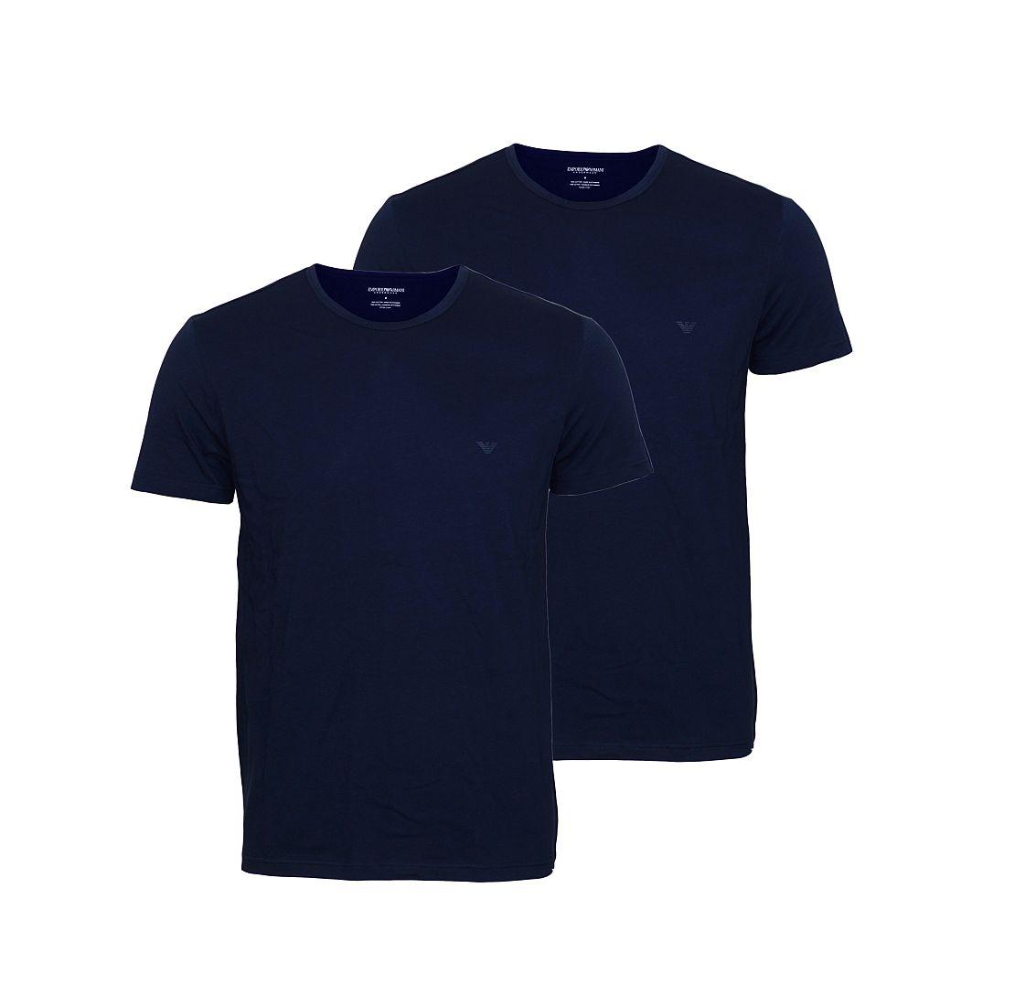 EMPORIO ARMANI 2er Pack Shirt T-Shirt navy 111647 CC722 27435