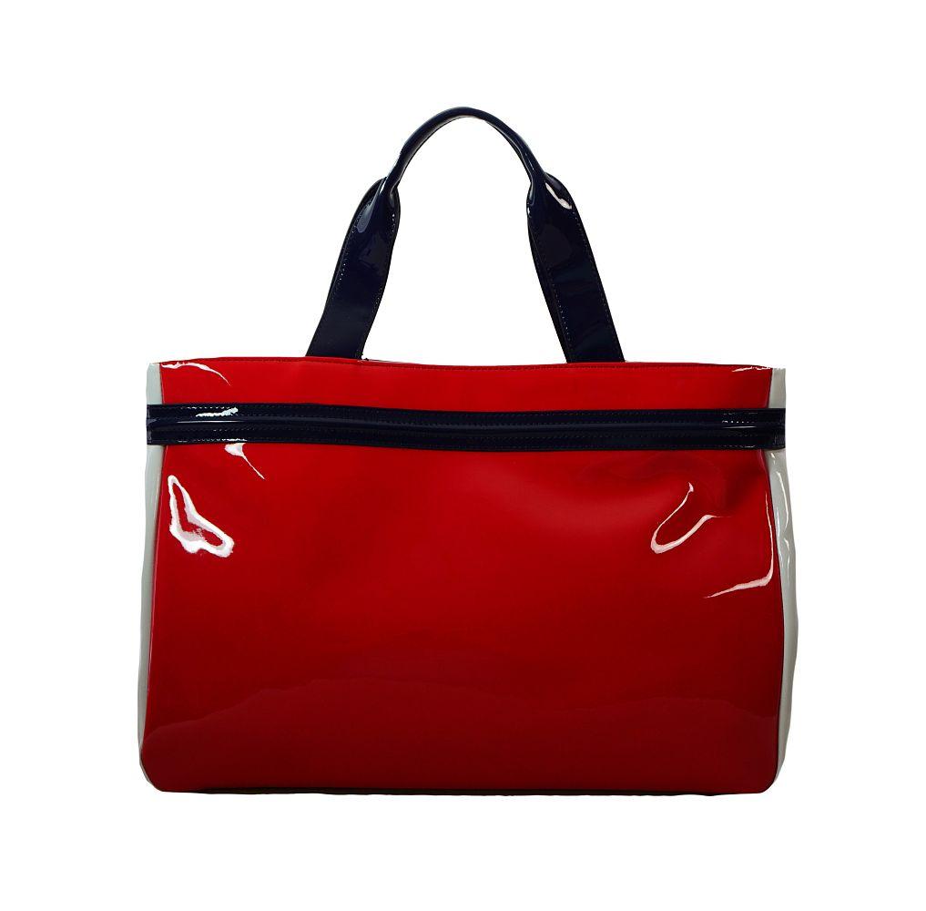 Armani Jeans Tasche Borsa Shopping 922548 CC852 15373 Geranio Bianco Handtasche S17-AJT1
