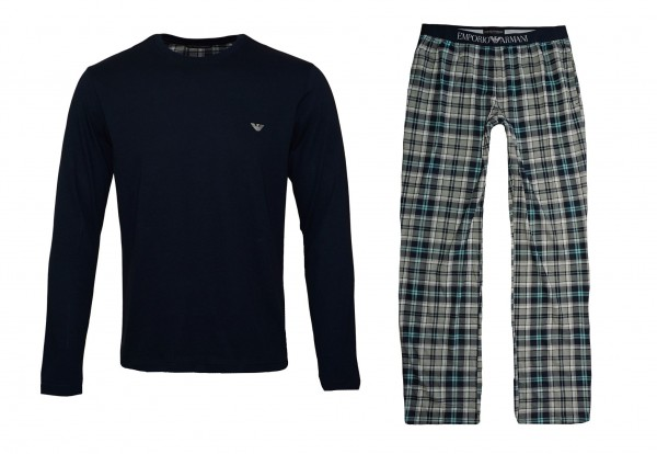 Emporio Armani Pyjamas Shirt Pant 111791 9A567 60435 navy SH19-EAX4