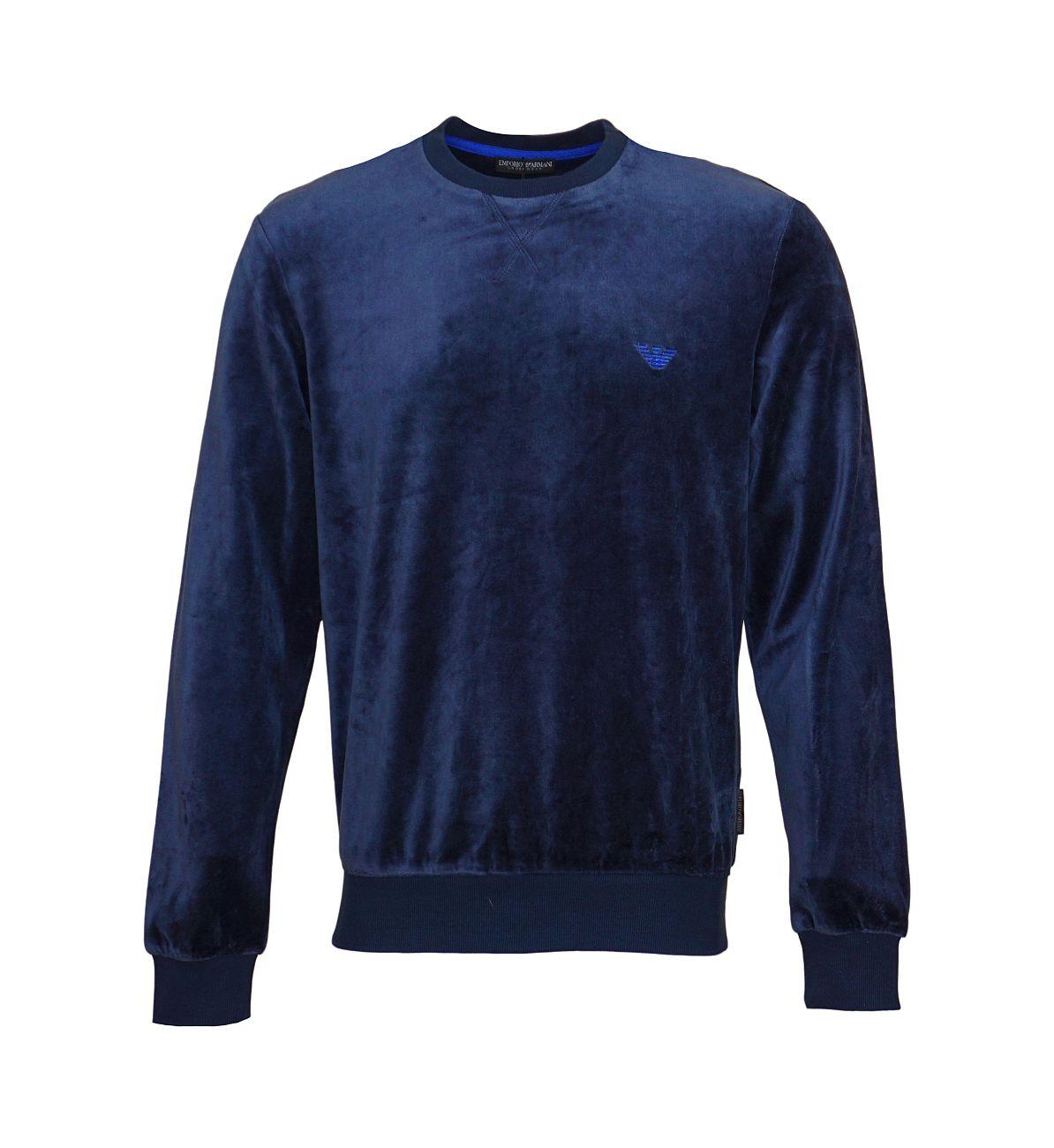 Emporio Armani Sweater Pullover Rundhals 111785 8A589 00135 MARINE WX18-EAS