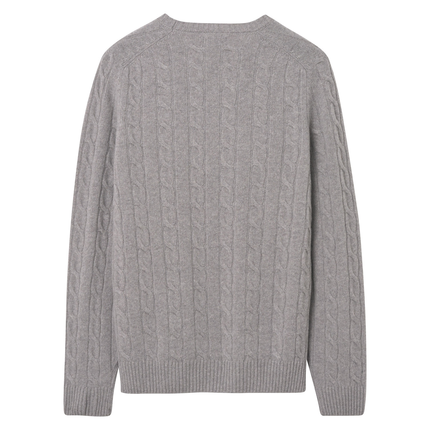 Gant Pullover Strickpullover O3. LAMBSWOOL CABLE CREW 8020028 GREY MELANGE SH18-GS1
