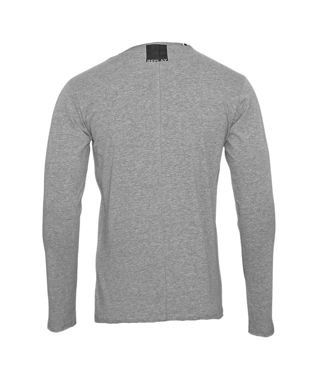 Replay Longsleeve Shirt Rundhals M3592.000 2660.M03 DARK GREY MELANGE S18-RPLS1