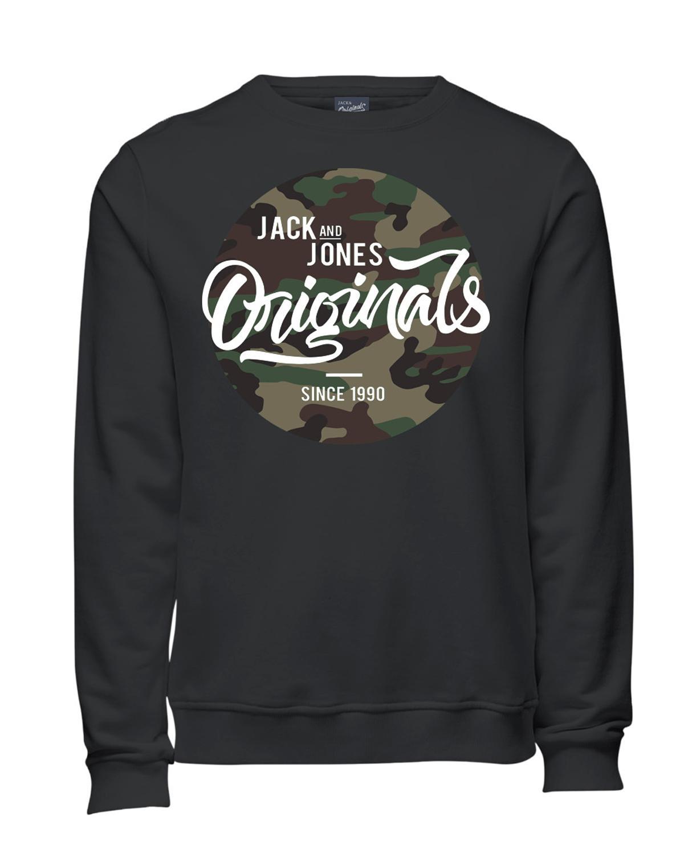 Jack & Jones Sweater Pullover JORMAGIC SWEAT MIX Asphalt 12126329 WF16-JJ1