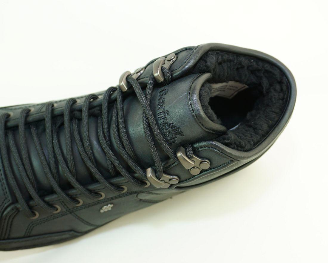 Boxfresh Schnürschuhe Schuhe Swapp 3 Prem UH LEA E-15180 Black Sneaker SH17-BFS1